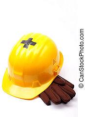 helmet - image of yellow helmet background