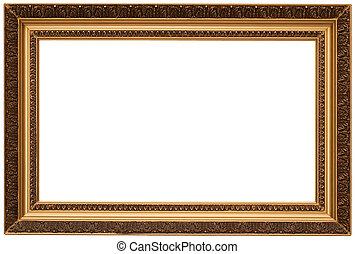 image, or, armature bois, isolé, plaqué