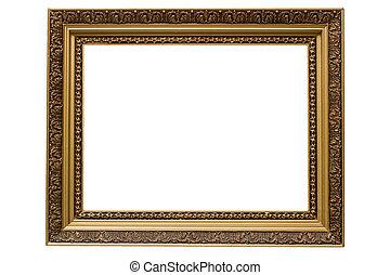 image, or, armature bois, isolé, plaqué, vide