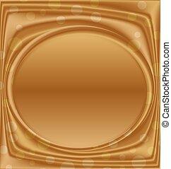 image, or, horizontalement, cadre, métal, ellipse