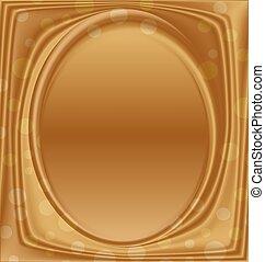 image, or, verticalement, cadre, métal, ellipse