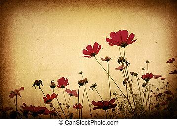 image, ou, texte, papier, textures, espace, vieux, parfait, fond, -, fleur