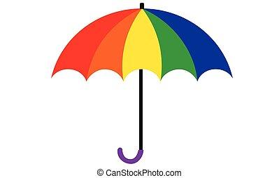 image, parapluie, coloré, icône