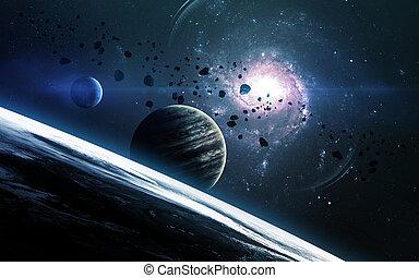 image, planètes, éléments, nasa., ceci, résumé, stars., nasa...