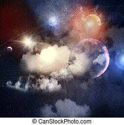 image, planètes, espace