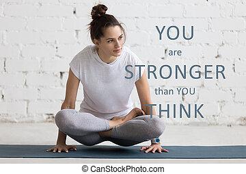 """image, que, plus fort, """"you, intérieur, motivation, yoga, think"""", vous, locution"""