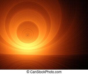 image, résumé, fractal, vortex., :