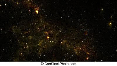 image, résumé, nébuleuse, space., arrière-plan., conception...