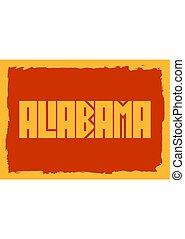 Alabama state name
