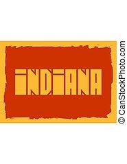 Indiana state name