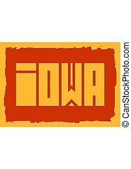 Iowa state name