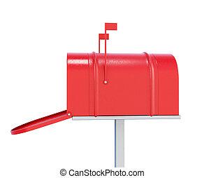 image., render, isolé, boîte lettres, arrière-plan., blanc, 3d