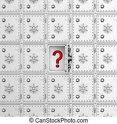 image, sûr, isolé, arrière-plan., blanc, 3d