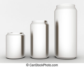 aluminum can - Image sealed aluminum can with a drink