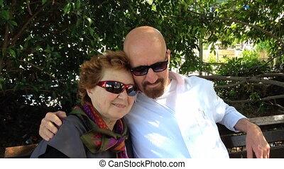 image, selfie, couple, personne agee, confection