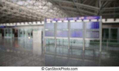 image, service, téléphone, aéroport, architecture, navette, francfort, intelligent