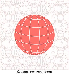 Image showing the possibility of using bitcoin as a means of payment in the world