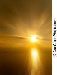 sun setting over the Black sea