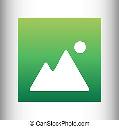 Image sign. Green gradient icon
