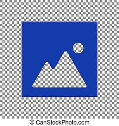 Image sign illustration. Blue icon on transparent background.