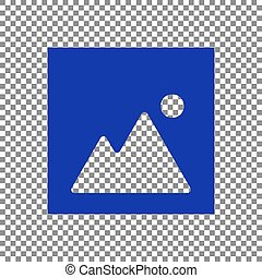 Image sign illustration. Blue icon on transparent background.