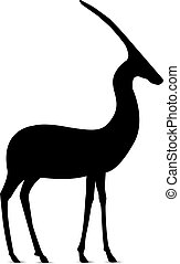 Silhouette of antelope.