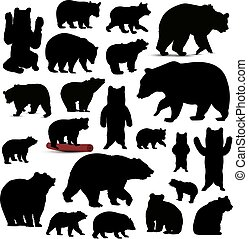 Silhouettes of bears.