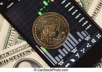 image, smartphone, crypto, argent