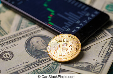 image, smartphone, crypto, monnaie
