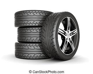 sport wheels - image sport wheels with alloy wheels on a...