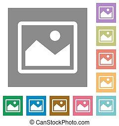 Image square flat icons