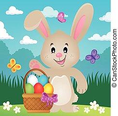 image, stylisé, thème, 4, lapin pâques