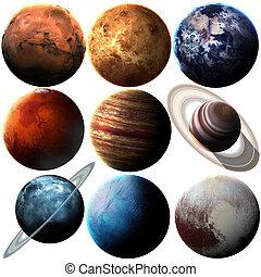 image, système, qualité, hight, éléments, isolé, solaire, ceci, nasa, meublé, planets.