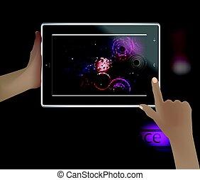 image, téléphone., intelligent, espace