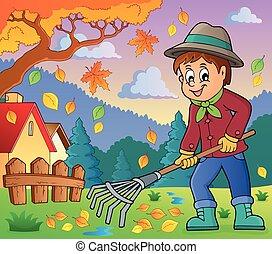 image, thème, jardinier, 4