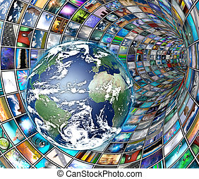 Image Tunnel with Earth