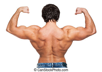 image, type, dos, musculaire, jeune