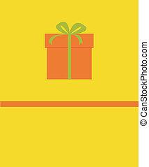 image, vecteur, cadeau