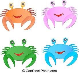 image, vecteur, crabe, fond, blanc