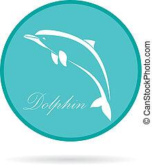 image, vecteur, dauphin