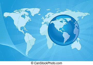 image, vecteur, globe, fond, numérique