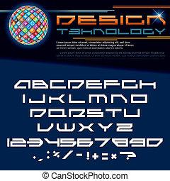 image, vecteur, technologie, font.