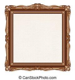 image, vendange, cadre, isolé, fond, blanc