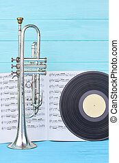 image., vertical, fundo, objetos, musical, colorido