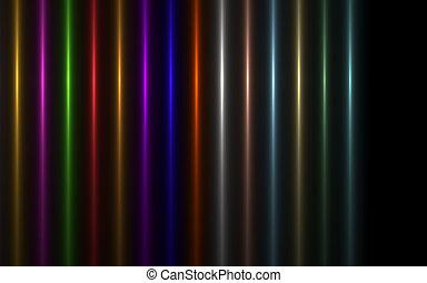 image, vertical, résumé, arc-en-ciel, eclatement soleil, éclairage, flare., lumière