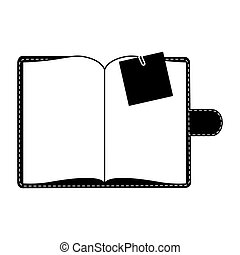 image, vide, bloc-notes, icône