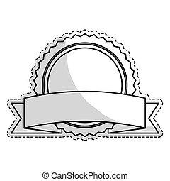 image, vide, emblème, rond, icône