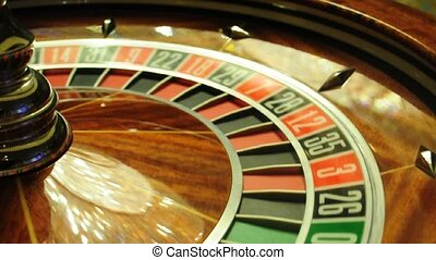 roulette wheel - image with a casino roulette wheel with the...