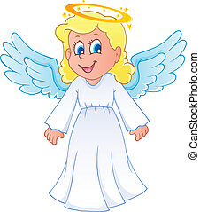 Image with angel 1 - vector illustration.