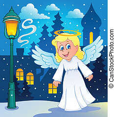 Image with angel 2 - vector illustration.